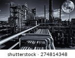 oil and gas refinery under a... | Shutterstock . vector #274814348