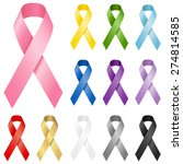 awareness ribbons   set of... | Shutterstock .eps vector #274814585