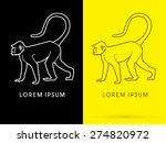 silhouette monkey  sign  logo ... | Shutterstock .eps vector #274820972