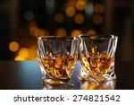 glasses of whiskey on bar... | Shutterstock . vector #274821542