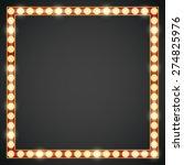 dark red gold colored vector... | Shutterstock .eps vector #274825976