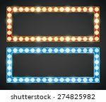 blue red gold colored vector... | Shutterstock .eps vector #274825982