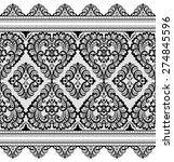 lace black seamless pattern... | Shutterstock .eps vector #274845596