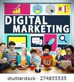 digital marketing commerce... | Shutterstock . vector #274855535