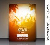 summer beach party flyer  ... | Shutterstock .eps vector #274860296
