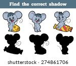 find the correct shadow  mice  | Shutterstock .eps vector #274861706