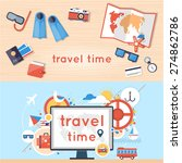 world travel. search for tour... | Shutterstock .eps vector #274862786