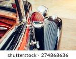part retro car close up. | Shutterstock . vector #274868636