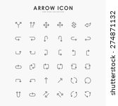 36 arrow minimal line icons | Shutterstock .eps vector #274871132