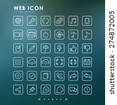 web minimal line icons with... | Shutterstock .eps vector #274872005