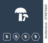 mushroom icon on flat ui colors ...