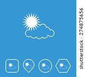 weather  cloud   sun  icon on...