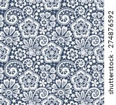 lace seamless pattern. | Shutterstock .eps vector #274876592