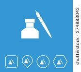 ink pot icon on flat ui colors...