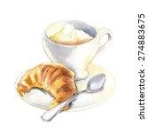 vector sketch of croissant | Shutterstock .eps vector #274883675