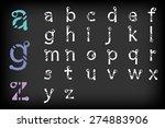 modern alphabetic fonts set... | Shutterstock .eps vector #274883906