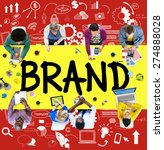brand branding connection idea... | Shutterstock . vector #274888028