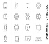 mobile gadgets and smart... | Shutterstock .eps vector #274892222