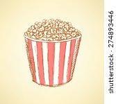 sketch pop corn in vintage... | Shutterstock .eps vector #274893446