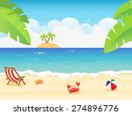 summer background | Shutterstock .eps vector #274896776