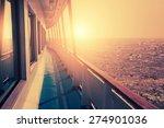 cruise ship in sea at sunset.... | Shutterstock . vector #274901036