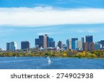 boston and charles river view... | Shutterstock . vector #274902938