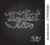 mothers day chalkboard... | Shutterstock .eps vector #274903085