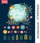 vintage premium styled floral... | Shutterstock .eps vector #274905602
