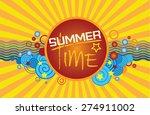 summer time poster. vector... | Shutterstock .eps vector #274911002