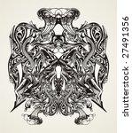 abstract modern vector design... | Shutterstock .eps vector #27491356