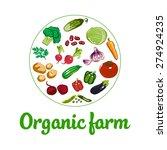 organic farm vector concept | Shutterstock .eps vector #274924235