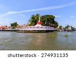white pagoda with red silk at... | Shutterstock . vector #274931135