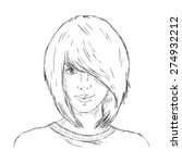 vector single sketch female... | Shutterstock .eps vector #274932212