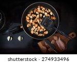 chopped chicken fillet fried on ...   Shutterstock . vector #274933496