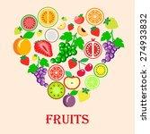 illustration of strawberry ... | Shutterstock .eps vector #274933832