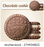 chocolate cookie 2. detailed... | Shutterstock .eps vector #274934822