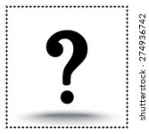 question mark sign icon  vector ... | Shutterstock .eps vector #274936742