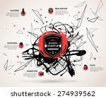 creative infographics concept... | Shutterstock .eps vector #274939562
