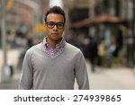 young black african asian man... | Shutterstock . vector #274939865