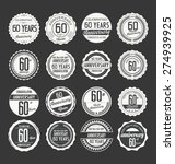anniversary label collection ... | Shutterstock .eps vector #274939925