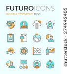 line icons with flat design... | Shutterstock .eps vector #274943405