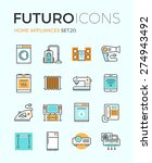 line icons with flat design... | Shutterstock .eps vector #274943492