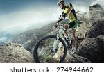 sport. mountain bike cyclist... | Shutterstock . vector #274944662