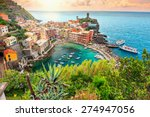 panorama of vernazza and... | Shutterstock . vector #274947056
