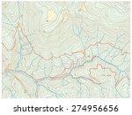 topographic map | Shutterstock .eps vector #274956656