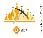 bitcoin vector icons banners...   Shutterstock .eps vector #274957232
