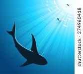 underwater deep sea background... | Shutterstock .eps vector #274960418