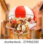 coffee and pastry shop ... | Shutterstock .eps vector #274962182