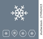 snowflake icon on flat ui...