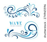 vector wave icons  wavy shapes  ... | Shutterstock .eps vector #274965596